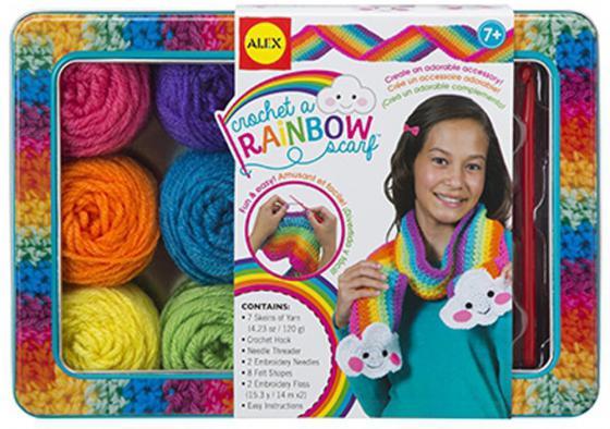 Фото - Набор для вязания Alex Радужный шарф 85T набор для вязания alex шапки и шарфа 87pn