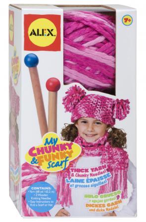 Набор для вязания Alex шапки и шарфа 87PN набор для вязания крючком alex