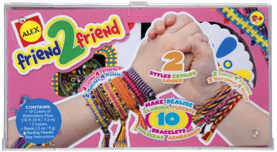 Набор для плетения браслетов  Дружба с 2-мя станками, от 8 лет наборы для создания украшений alex большой набор для плетения браслетов друзья