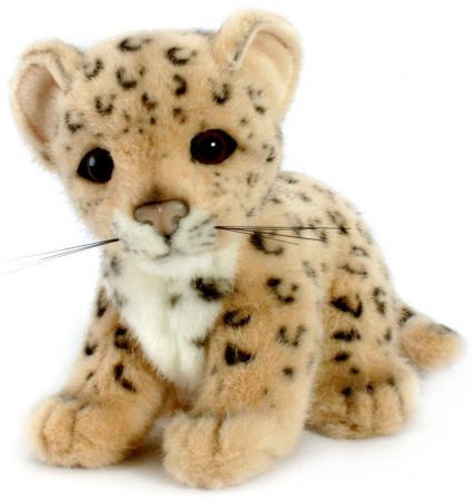Мягкая игрушка Hansa Детеныш леопарда 18 см разноцветный искусственный мех 3423