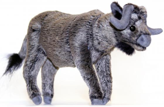 Мягкая игрушка бык Hansa 5418 16 см серый искусственный мех вода минеральная acqua panna негазированная от 3 лет 1 л