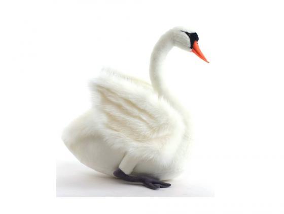 Мягкая игрушка лебедь Hansa 4083 45 см белый искусственный мех мягкая игрушка hansa лебедь белый 27 см 4085