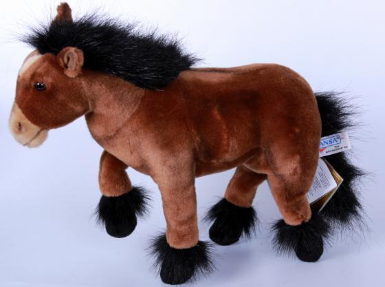 Мягкая игрушка пони Hansa 3417 36 см коричневый искусственный мех мягкая игрушка hansa пони с мягкой набивкой 35 см