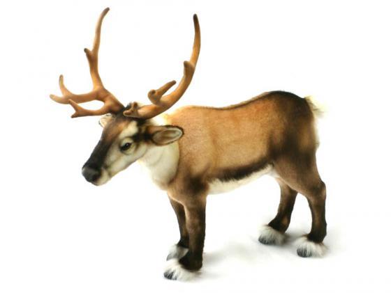 Мягкая игрушка олень Hansa Северный 50 см коричневый искусственный мех 4589 зверь световой неон найт 45 см северный олень ленточкой 513 269