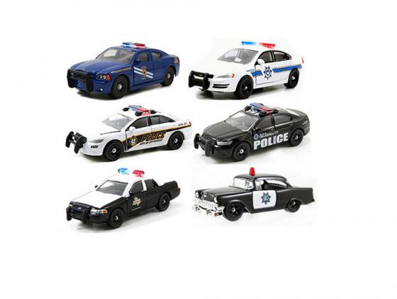 Полицейская машина Jada Toys Here Patrol Assortment 1 шт н/д разноцветный 14016-W6 в ассортименте jada diekast here patrol assortment 1 64