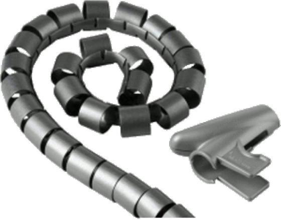 Кабель-органайзер Hama H-20600 20мм пластик серебристый 2.5м кабель органайзер hama h 20583 25мм пластик серый 2 0м