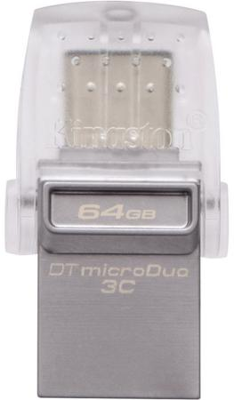 Флешка USB 64Gb Kingston DTDUO3C/64GB серый kingston hyperx savage 64gb usb накопитель