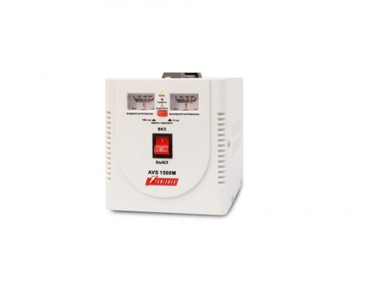 Стабилизатор напряжения Powerman AVS-1500M 1500VA белый vinon fdr 1500va стабилизатор напряжения