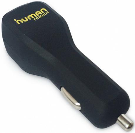 Автомобильное зарядное устройство CBR Human Friends Doubler 2.1A 2х USB черный универсальное зарядное устройство human friends usb to micro usb iph 4 5 6 trunk white