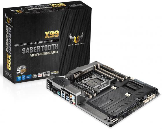 Материнская плата ASUS SABERTOOTH X99 Socket 2011-3 X99 8xDDR4 3xPCI-E 16x 1xPCI-E 1x 1xPCI-E 4x 10xSATAIII ATX Retail asus sabertooth z97 mark 1 desktop motherboard z97 socket lga 1150 i7 i5 i3 ddr3 32g sata3 atx second hand high quality