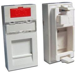 Вставка Lanmaster LAN-SIP-22M-WH 22.5x45 on one keystone белый коробка lanmaster lan sa1 s wh keystone rj45