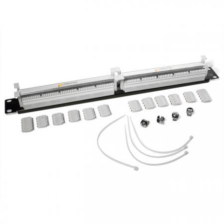 Кросс Lanmaster LAN-RS110-100FT 100-парный 110 19 1U блоки в комплекте патч панель lanmaster twt pp24utp 19 1u