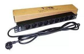 Блок розеток Lanmaster TWT-PDU19-16A9P-3.0 вертикальный 8 розеток базовые 10A C14 цена и фото