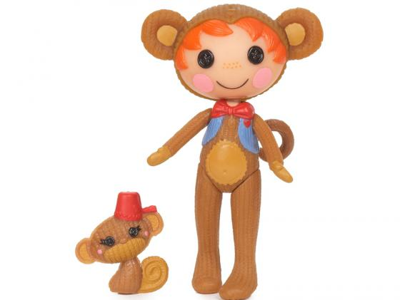 Кукла Lalaloopsy Mini обезьянка 7.5 см 514220 кукла малютка lalaloopsy в оранжевой упаковке