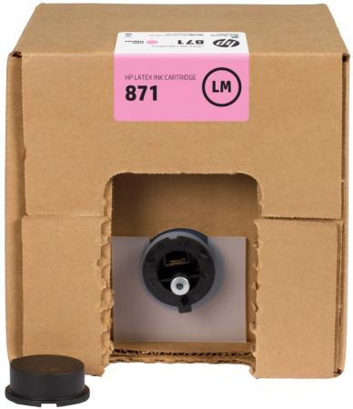 Картридж HP 871C G0Y84C для Latex 370 светло-пурпурный картридж hp cn674a для latex 610 светло голубой 3л