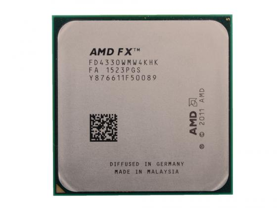 Процессор AMD X4 FX-4330 4.0ГГц 4Mb FD4330WMW4KHK Socket AM3+ OEM процессор amd a8 7600 3 3ghz 4mb ad7600ybi44ja socket fm2 oem
