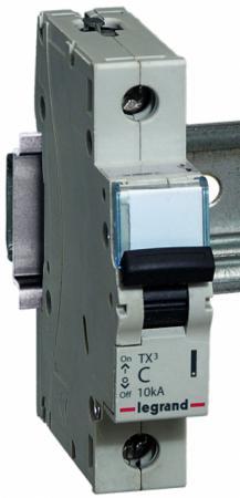 Автоматический выключатель Legrand TX3 6000 10кА тип С 1П 6А 403913 автоматический выключатель tdm ва47 100 3р 100а 10ка d sq0207 0033