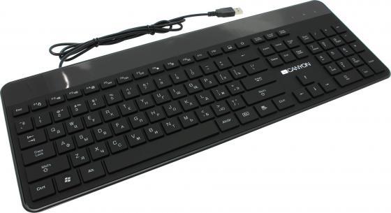 Клавиатура проводная Canyon CNS-HKB5RU USB черный клавиатура canyon cns hkb4 usb
