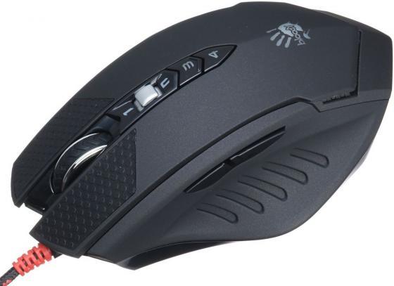 лучшая цена Мышь проводная A4TECH Bloody Terminator TL70 чёрный серый USB