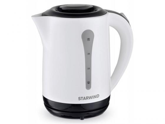 Фото - Чайник StarWind SKP2212 2200 Вт белый чёрный 2.5 л пластик чайник электрический starwind skp2212 белый черный