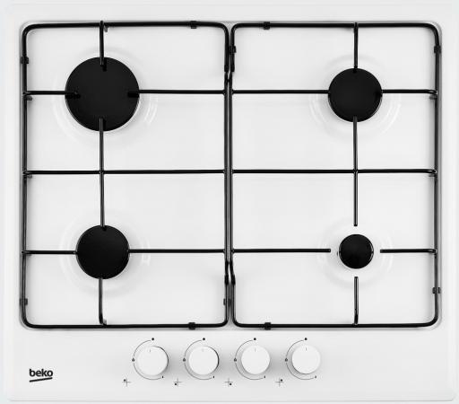 Варочная панель газовая Beko HIMG 64223 W белый цена и фото