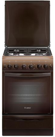 Газовая плита Gefest ПГ 5100-02 0001 коричневый газовая плита gefest пгэ 6102 02 0001 электрическая духовка коричневый