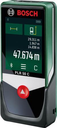Дальномер Bosch PLR 50 C 50 м 603672220 лазерный дальномер bosch plr 50 c [0603672220]