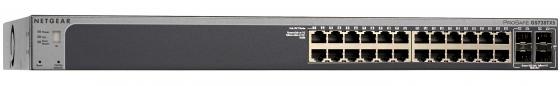 Коммутатор Netgear GS728TXP-100NES управляемый 24 порта 10/100/1000Mbps 2хSFP