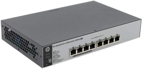 Коммутатор HP 1820-8G-PoE+ управляемый 8 портов 10/100/1000Mbps J9982A коммутатор hp 2530 8 poe управляемый 8 портов 10 100 1000mbps 2xsfp poe j9780a