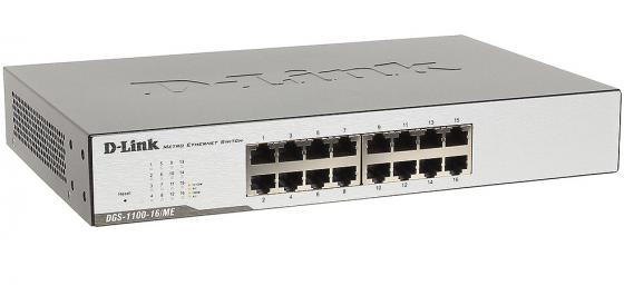 Коммутатор D-LINK DGS-1100-16/ME/B1A/B2A управляемый 16 портов 10/100/1000Mbps EasySmart switch