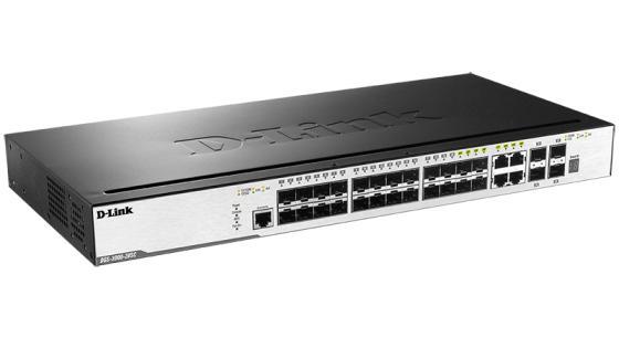 Коммутатор D-LINK DGS-3000-28SC/A1A управляемый 24 порта 10/100/1000Mbps 4xCombo UTP/SFP коммутатор d link dgs 3120 48tc b1ari управляемый 48 портов 10 100 1000mbps 4 combo 10 100 1000base t sfp 2x10g cx4 for uplinks