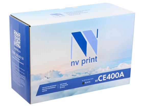 Картридж NV-Print CE400A для P CLJ Color M551/M551n/M551dn/M551xh5 черный 5000стр картридж nv print ce401a для hp clj color m551 m551n m551dn m551xh5 голубой 6000стр