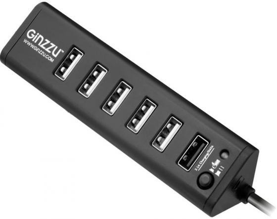 Концентратор USB 3.0 GINZZU GR-315UB 1 х USB 3.0 6 x USB 2.0 черный концентратор usb 3 0 ginzzu gr 380uab 4 х usb 3 0 6 x usb 2 0 черный