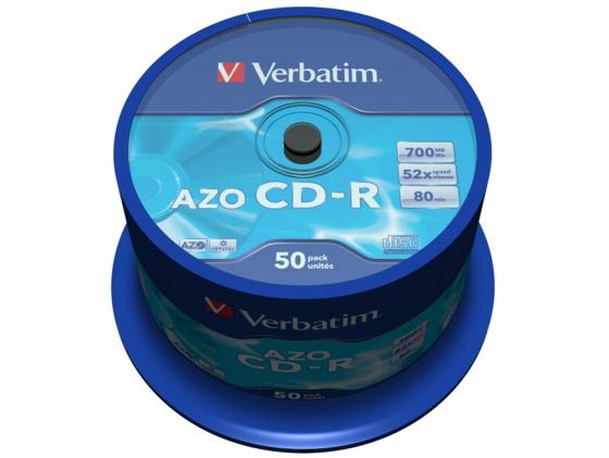 Диски CD-R 700Mb 52x CakeBox (50шт) Super Azo Crystal Verbatim [43343] verbatim music cd r в киеве