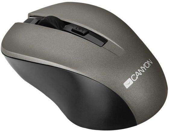 Мышь беспроводная Canyon CNE-CMSW1G серый USB мышь беспроводная canyon cne cmsw03dg серебристый чёрный usb bluetooth