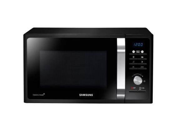 Микроволновая печь Samsung MG23F302TAK 800 Вт чёрный микроволновая печь midea mm820cj7 b3 800 вт чёрный