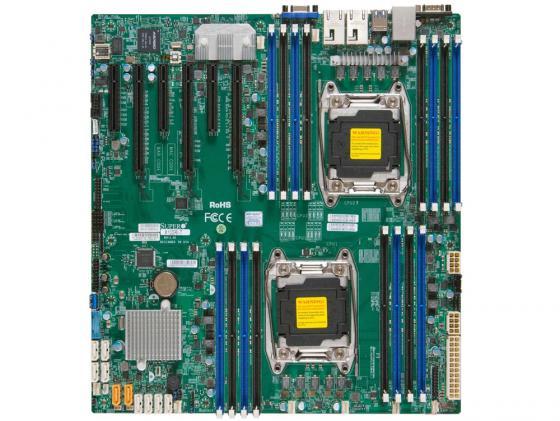 Фото - Материнская плата Supermicro MBD-X10DRI-B LGA2011 iC612 16xDDR4 3xPCI-E 16x 3xPCI-E 8x 10xSATA3 2xGLAN eATX OEM mbd x10dri o