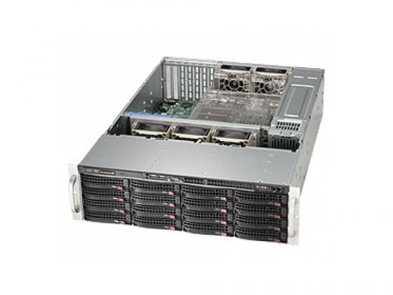 лучшая цена Серверный корпус 3U Supermicro CSE-836BE1C-R1K03B 1000 Вт чёрный серебристый