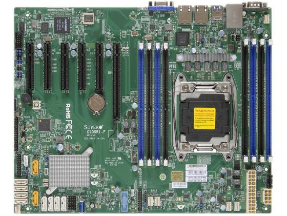 Материнская плата Supermicro MBD-X10SRI-F-B Socket 2011-3 C612 8xDDR4 1xPCI-E 16x 1xPCI-E 4x 2xPCI-E 8x 10xSATAIII ATX OEM заглушка supermicro mbd x10sri f b