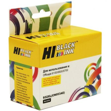 Картридж Hi-Black CN053AE для HP OJ 6100/6600/6700 черный картридж t2 cn053ae 932xl для hp officejet 6100 6600 6700 7110 7610 black