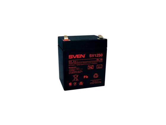 Батарея Sven SV-0222005/SV-1250 12B/5A аккумуляторная батарея для ибп sven sv 12v7 2ah sv 012335