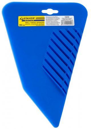 Шпатель Stayer прижимной для обоев пластмассовый 280мм 10205 цена