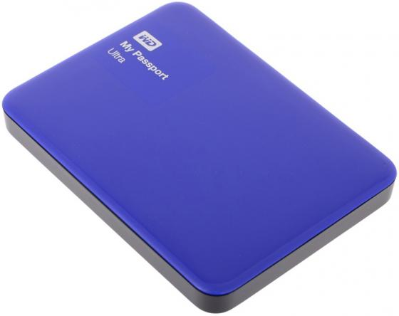 Внешний жесткий диск 2.5 USB3.0 500Gb Western Digital My Passport Ultra WDBBRL5000ABL-EEUE синий western digital wdbbrl5000abl eeue
