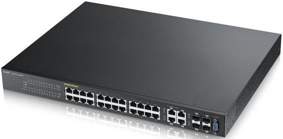 Коммутатор Zyxel GS2210-24HP управляемый 24 порта 10/100Mbps 4xSFP zvv 24hp