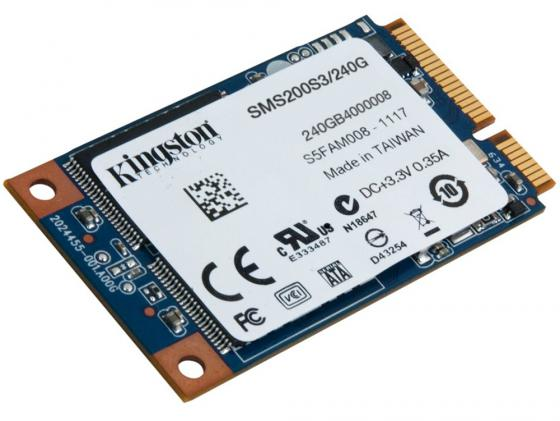 Твердотельный накопитель SSD mSATA 240GB Kingston SSDNow mS200 Read 540Mb/s Write 530Mb/s SMS200S3/240G kingston ssdnow v300 240gb sv300s37a 240g