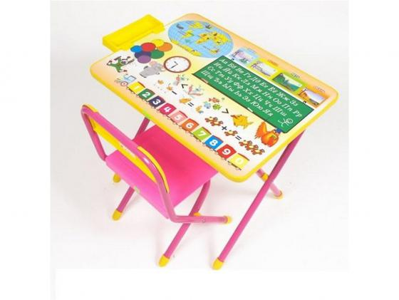 Набор мебели N1 Глобус розовый ДЭМИ ССД.02-Г набор мебели дэми алфавит стол и стул розовый
