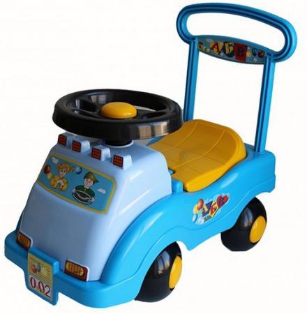 Каталка-машинка Совтехстром Автомобиль №2 пластик от 1 года голубой У439 каталка на палочке совтехстром вертолёт пластик от 1 года зеленый у499