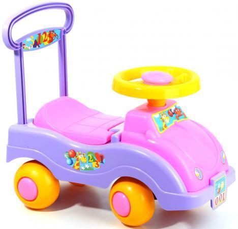Каталка-машинка Совтехстром Автомобиль для девочек пластик от 1 года цвет в ассортименте У447 каталка на палочке совтехстром вертолёт пластик от 1 года зеленый у499