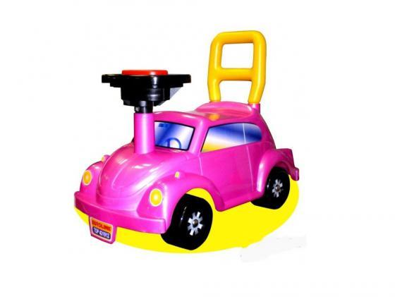 Каталка-машинка Нордпласт Go! Розовое чудо пластик от 2 лет с гудком розовый 431012/1