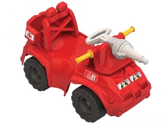 Каталка-машинка Нордпласт Пожарная машина пластик от 1 года красный 431014 цена